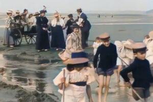 ikukids-film-freres-lumiere-1896-restaure-colorise-plage-epoque