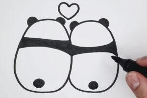 ikukids-apprends-a-dessiner-dessin-facile-deux-pandas-amoureux